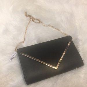 Aldo black clutch and shoulder bag